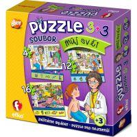 Efko Súbor Puzzle 3 v 1 Môj svet 2