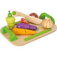 Eichhorn Dřevěné prkénko se zeleninou a nožem