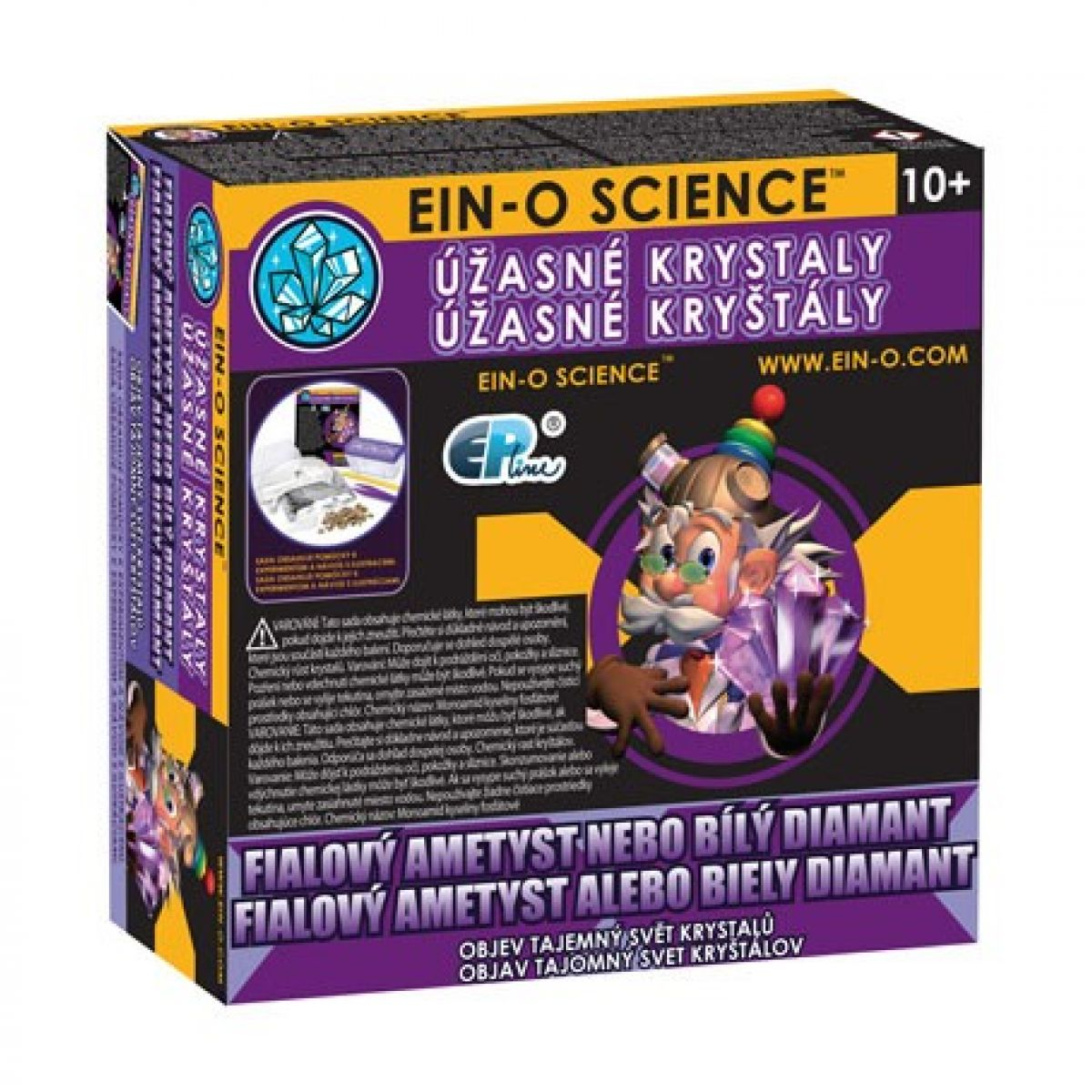 EIN-O Science Úžasné krystaly Fialový ametyst nebo bílý diamant