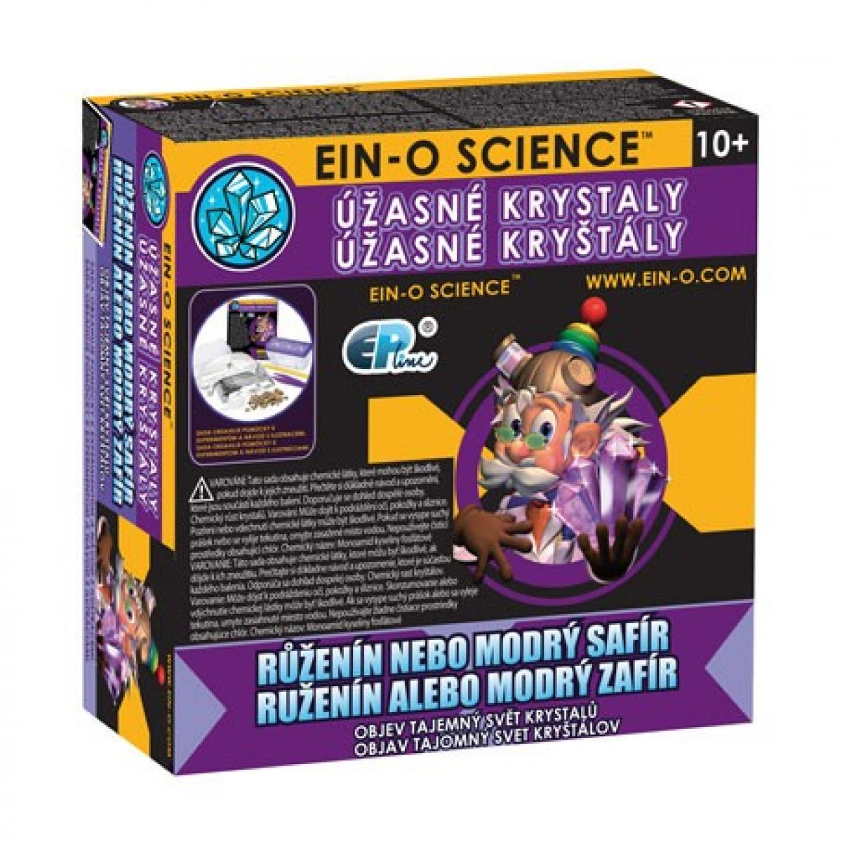 EIN-O Science Úžasné kryštály Ruženín alebo modrý zafír