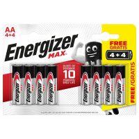 Energizer MAX AA 4 + 4 zdarma