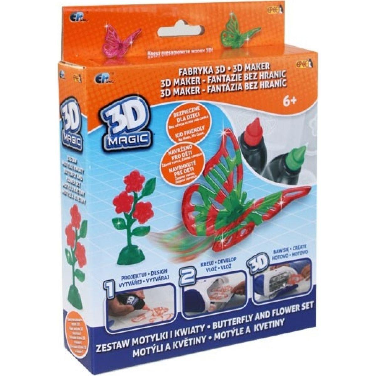 EP Line 3D Magic Tématická sada Motýli a květiny
