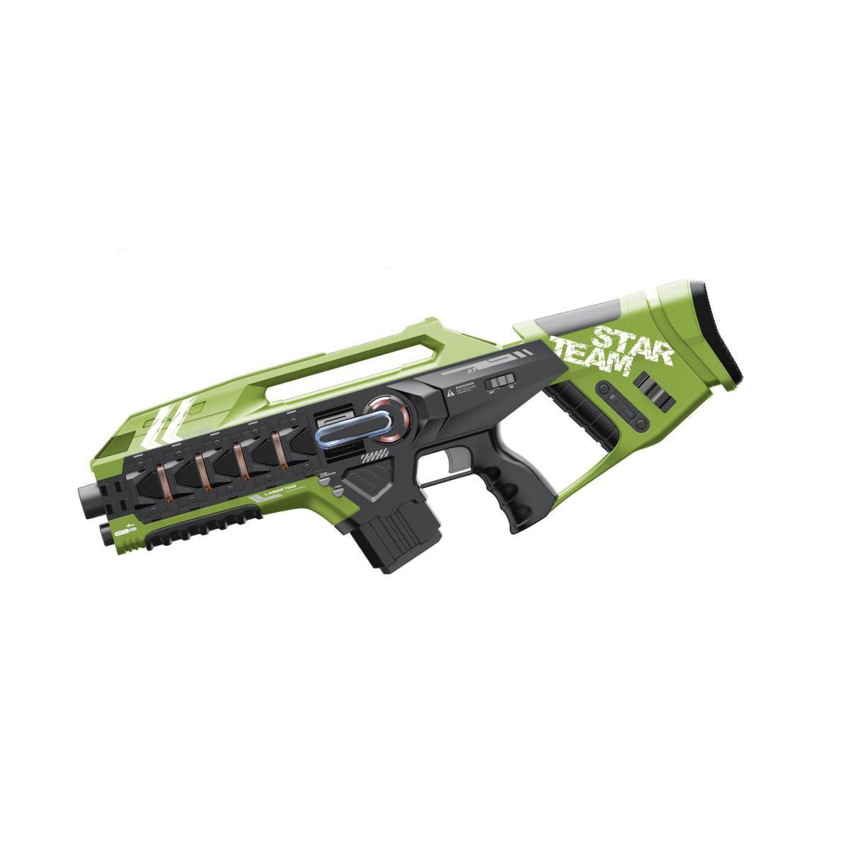 EP Line Laser game Sada s dvomi veľkými zbraňami zelená a modrá