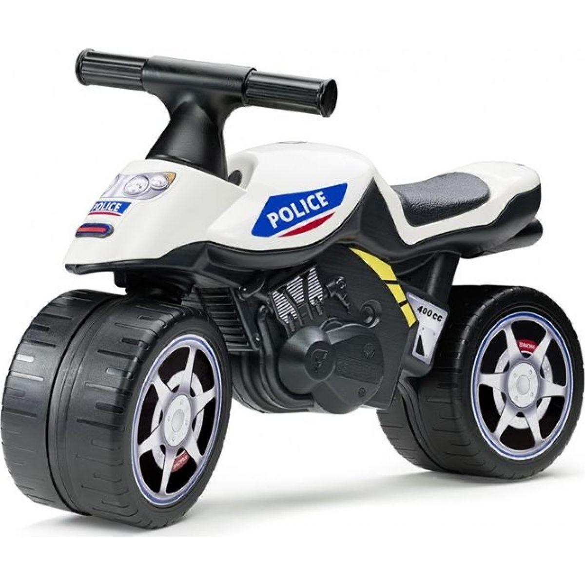 Falk Odstrkovadlo motorka policajné modro-biela