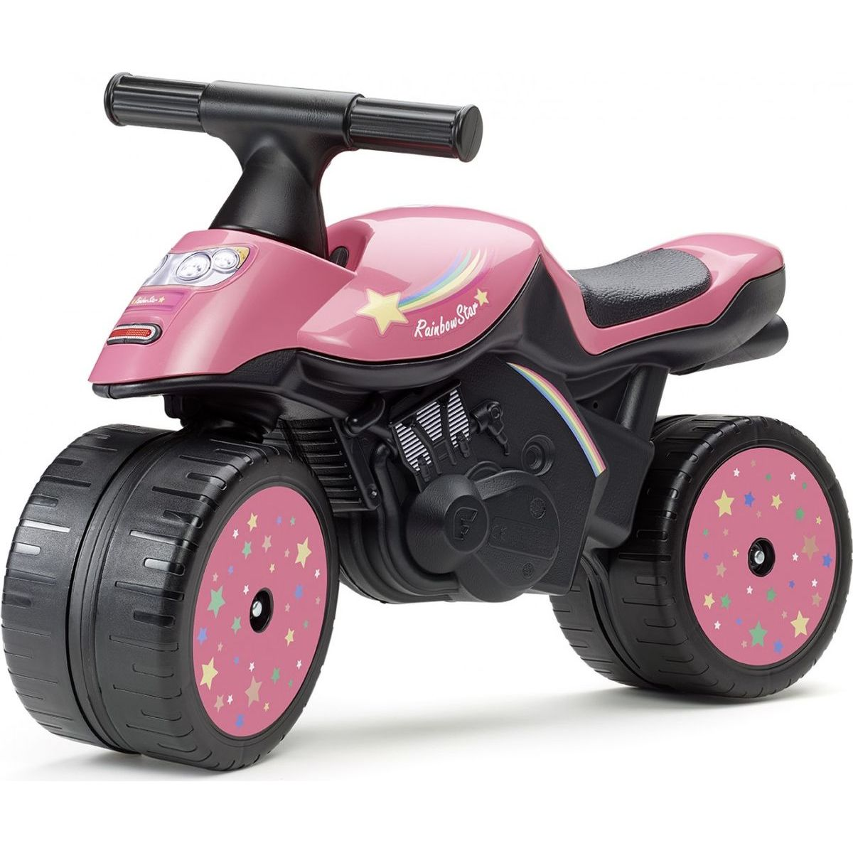 Falk Odstrkovadlo motorka ružová Rainbow star