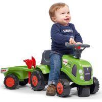 Falk Odstrkovadlo traktor Claas zelené s volantem a valníkem 2