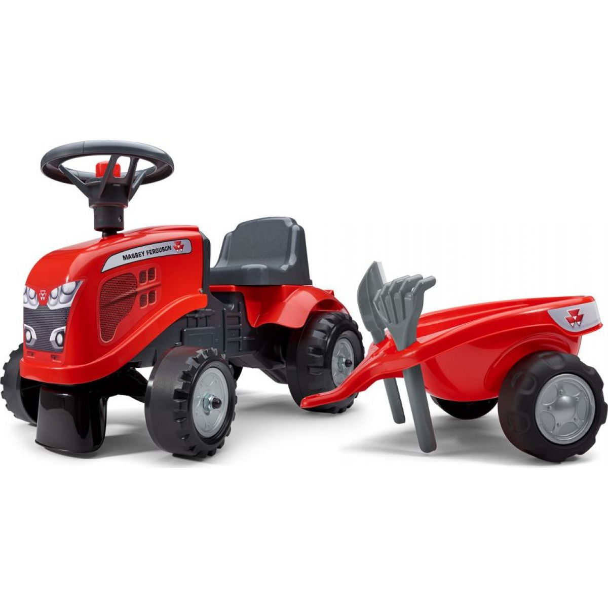 Falk Odstrkovadlo traktor Massey Ferguson červenej, volant a valník