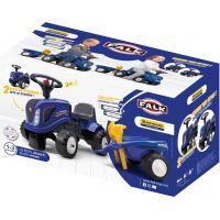 Falk Odstrkovadlo traktor New Holland modré s volantom a prívesom 6