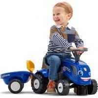 Falk Odstrkovadlo traktor New Holland modré s volantom a prívesom 4