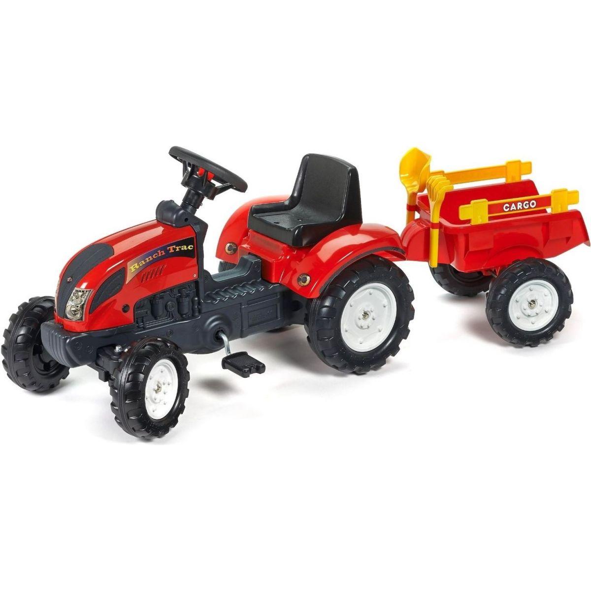 Alltoys Falk Traktor Ranch Trac vlek lopatka hrabičky