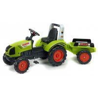 Falk Traktor šlapací Claas Arion 430 s vozíkom zelený