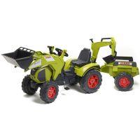 Falk Šliapací traktor Claas Axos 330 s prednou a zadnou lyžicou