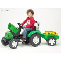 Falk Traktor šlapací Lander 240X s vozíkom zelený 2