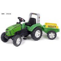 Falk Traktor šlapací Lander 240X s vozíkom zelený 3