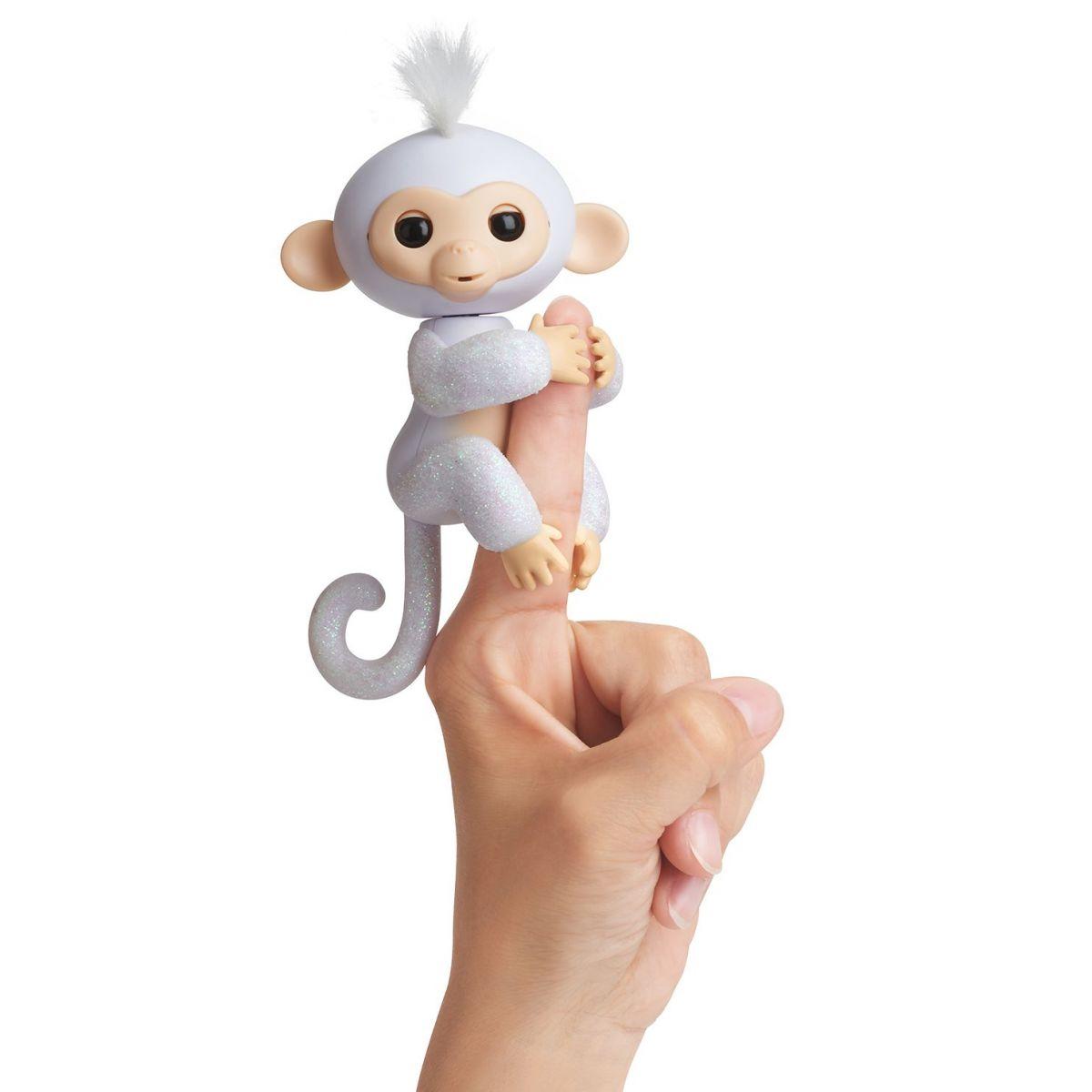 Fingerlings Opička trblietavá Sugar biela