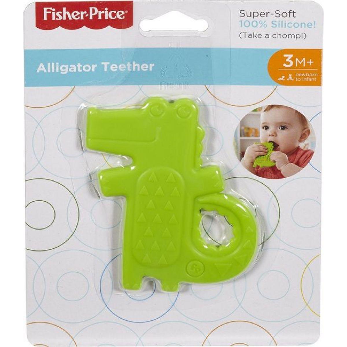 Fisher Price Hryzátko krokodíl zelený