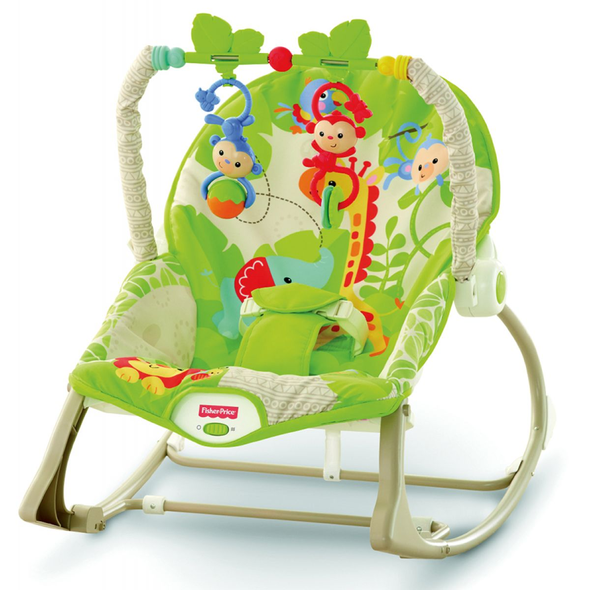 Fisher Price Baby Gear sedátko od bábätka po batoľa Rainforest (Fisher Price CBF52)