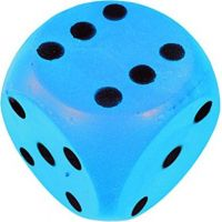 Frabar Soft kocka s bodkami 1-6 Modrá