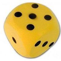 Frabar Soft kocka s bodkami 1-6 Žltá