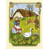 Fragment Lidová říkadla a písničky s puzzle - České jaro - Josef Lada 2