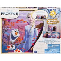 Spin Master Frozen 2 drevené puzzle 3 x 24 dielikov