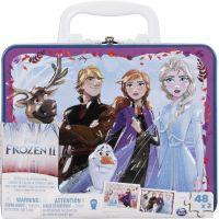 Spin Master Frozen 2 puzzle v plechovom kufríku 2 x 48 dielikov 3