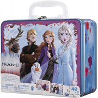 Spin Master Frozen 2 puzzle v plechovom kufríku 2 x 48 dielikov 4