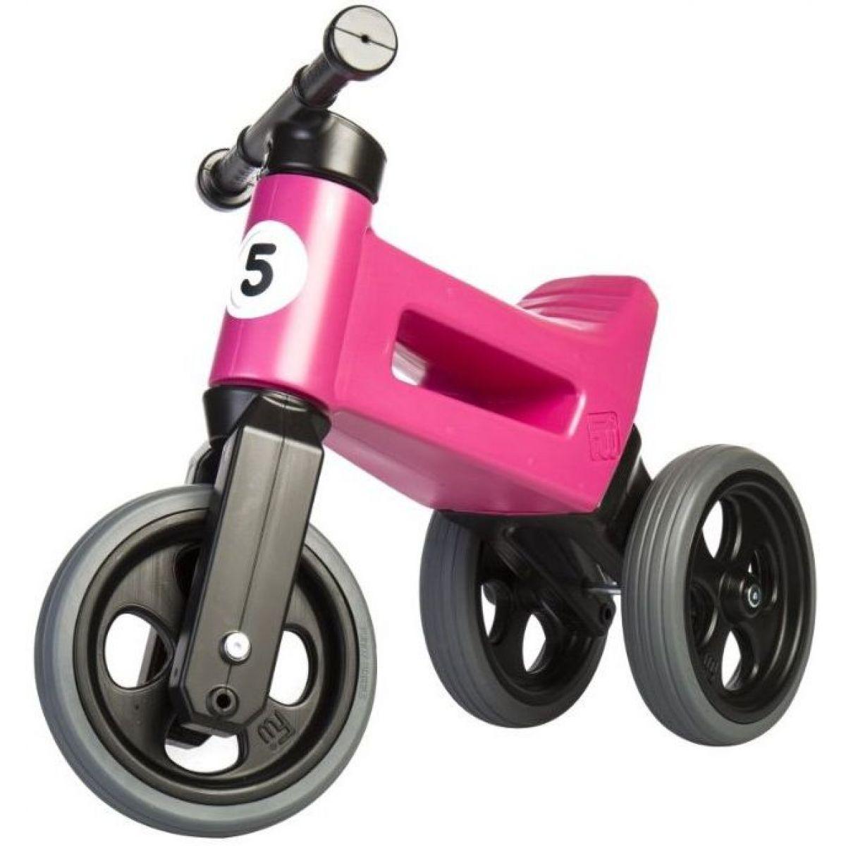 Funny Wheels Odrážadlo New Sport 2v1 ružové