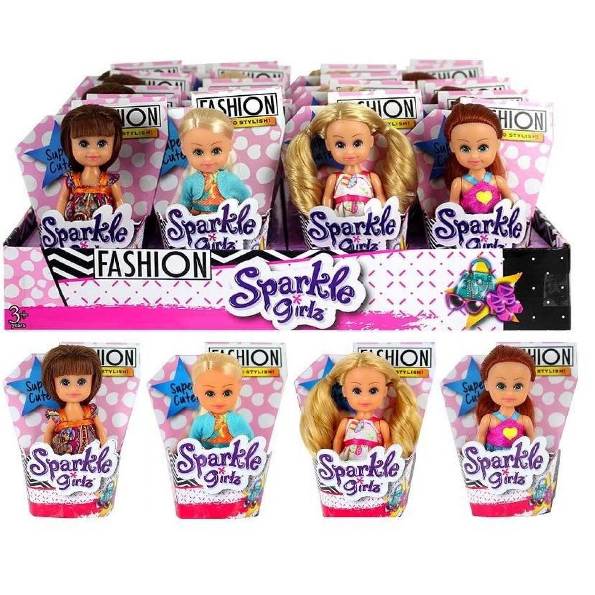 Funville Bábika Sparkle Girlz Fashion malá v kornútku