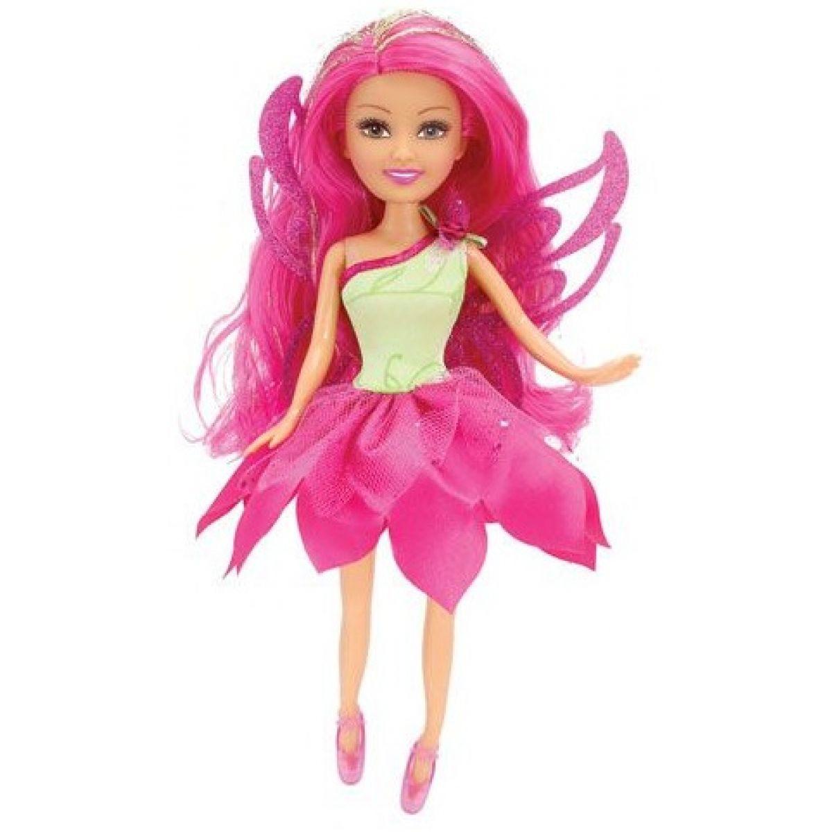 Funville Víla Sparkle Girlz kvetinová s krídlami v kornúte ružová sukňa