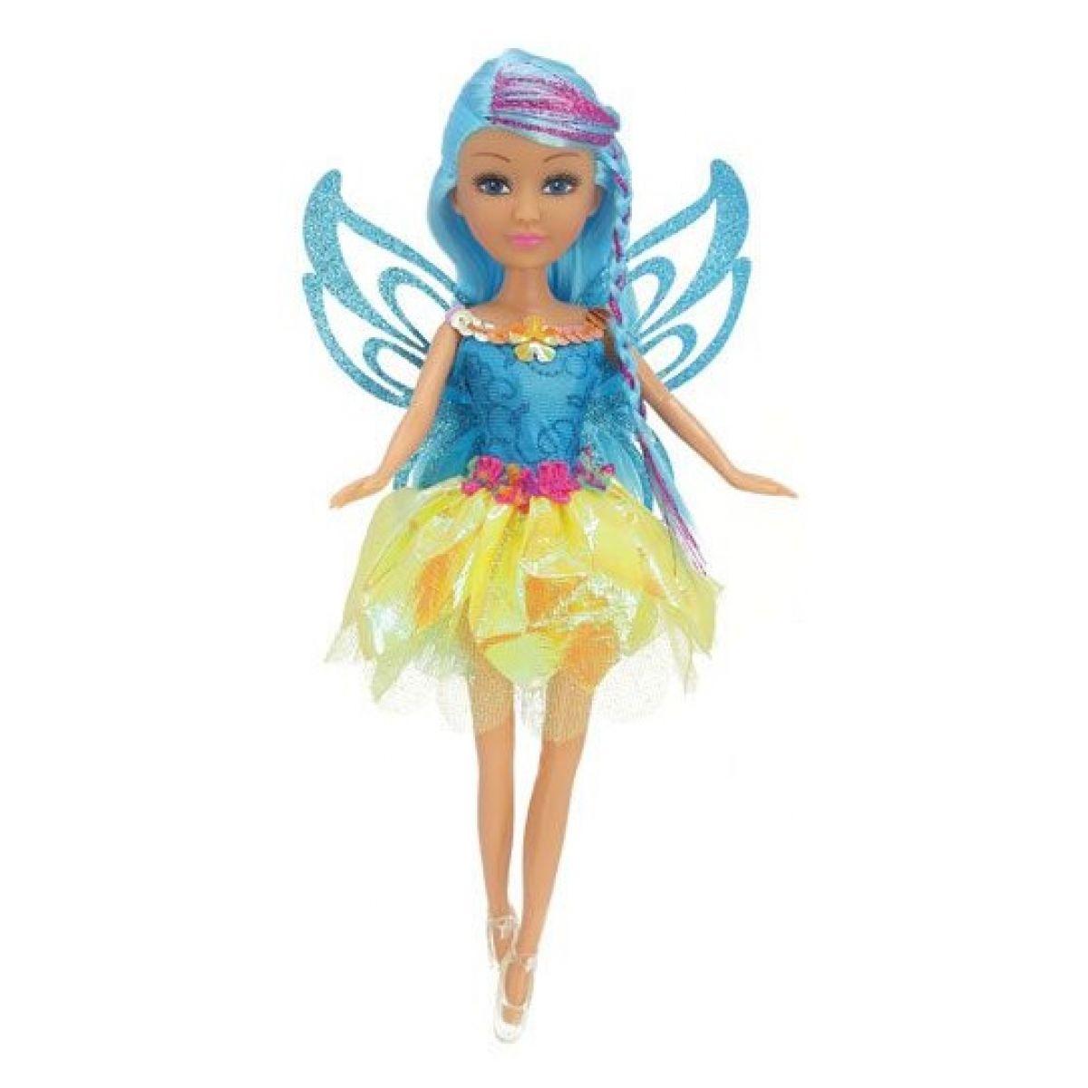 Funville Víla Sparkle Girlz květinová s křídly v kornoutu žlutá sukně