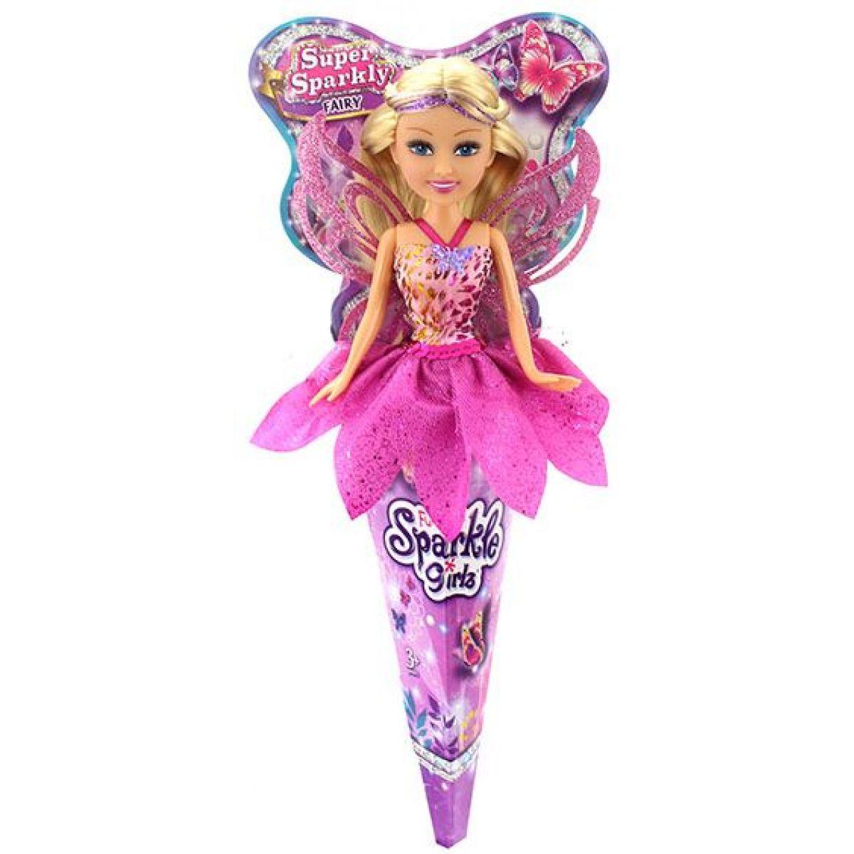 Funville Víla v kornútku Sparkle Girlz ružová sukne