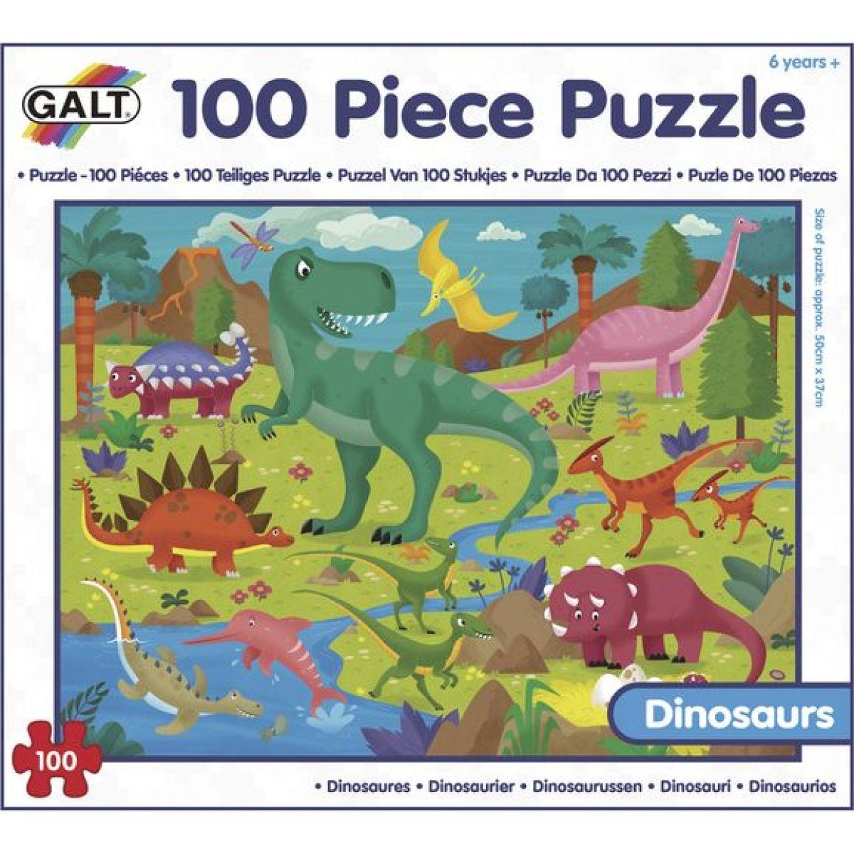 GALT 100 Puzzle v krabici Dinosaury