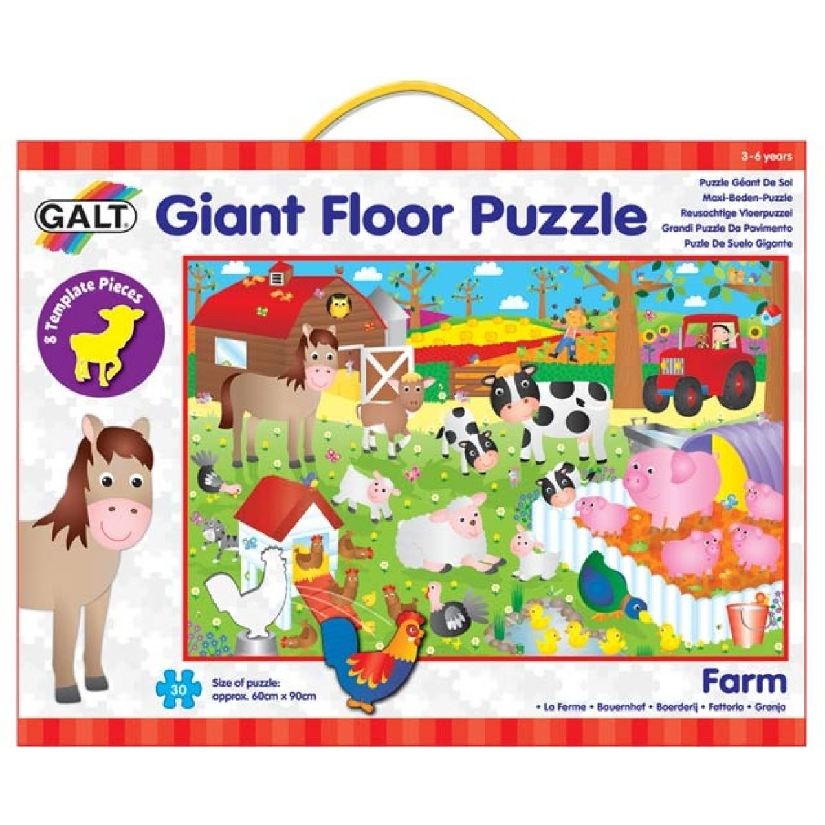 Galt Veľké podlahové puzzle - na farme