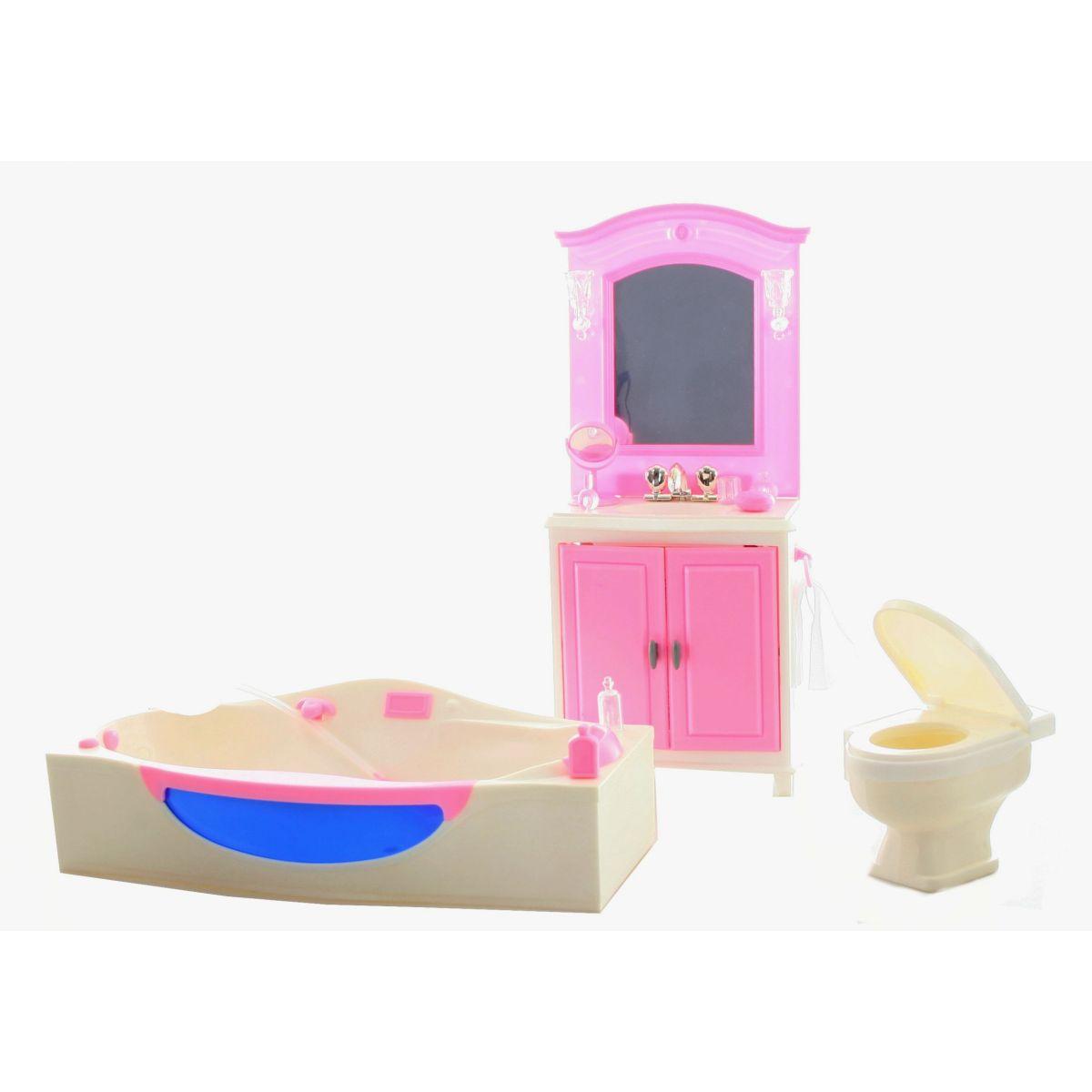 Glorie Kúpeľňa pre bábiky s doplnkami