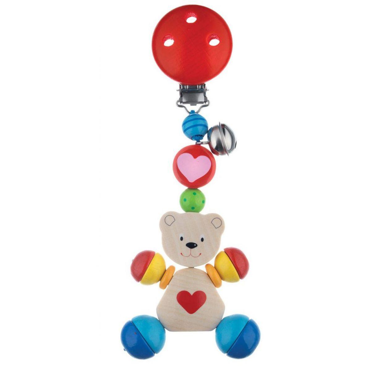 Goki Hračka s klipom medvedík