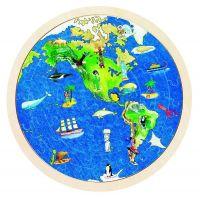 Goki Obojstranné puzzle Zemeguľa