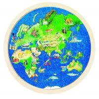 Goki Obojstranné puzzle Zemeguľa 2