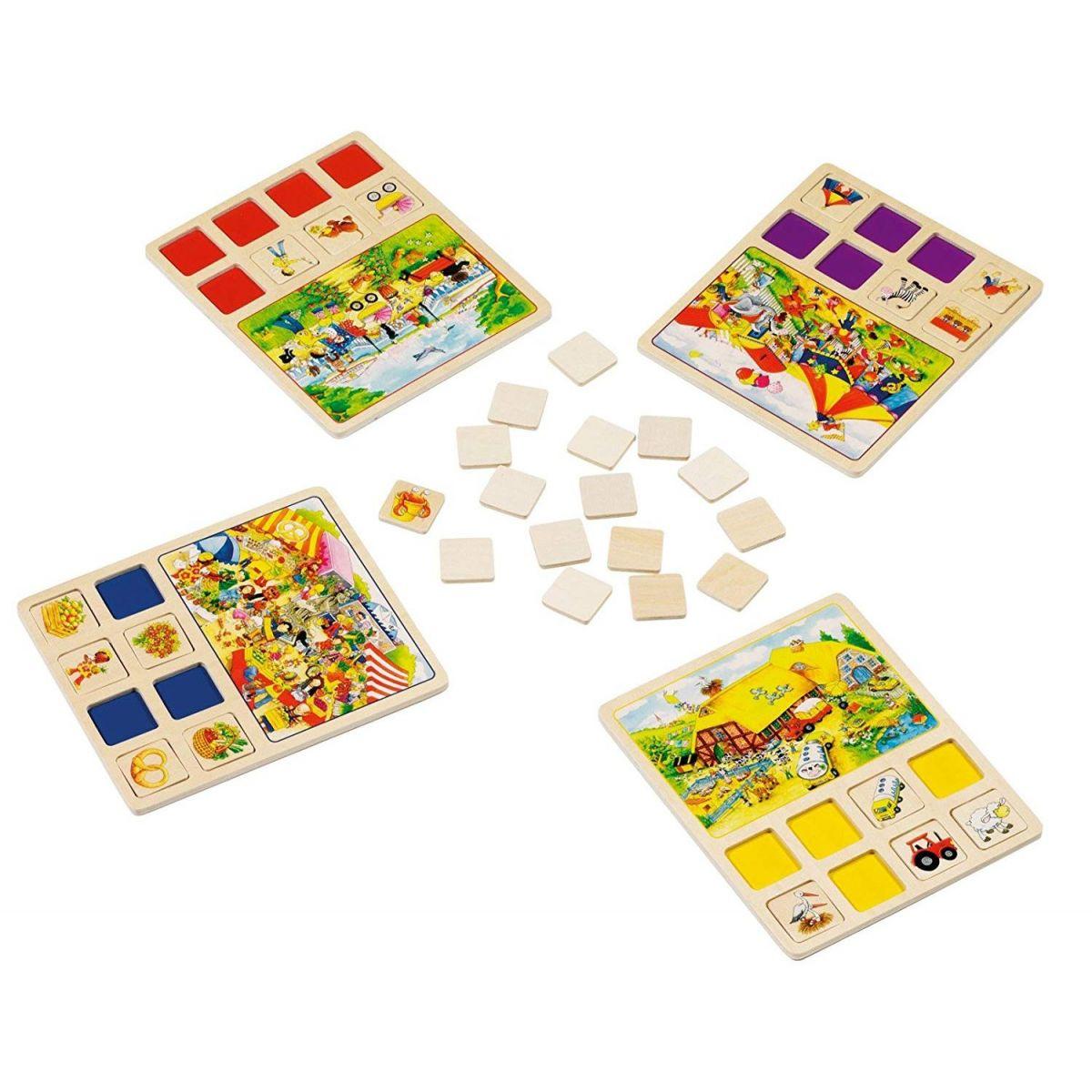 Goki pamäťová didaktická hra Farma a Cirkus