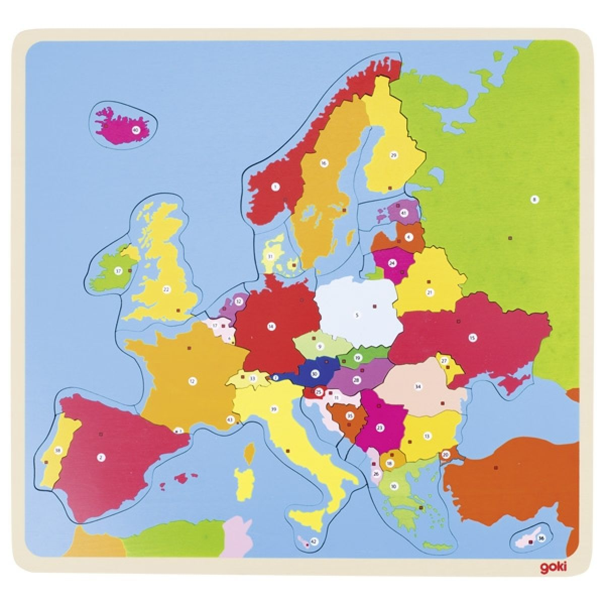 Goki Puzzle na doske Európa