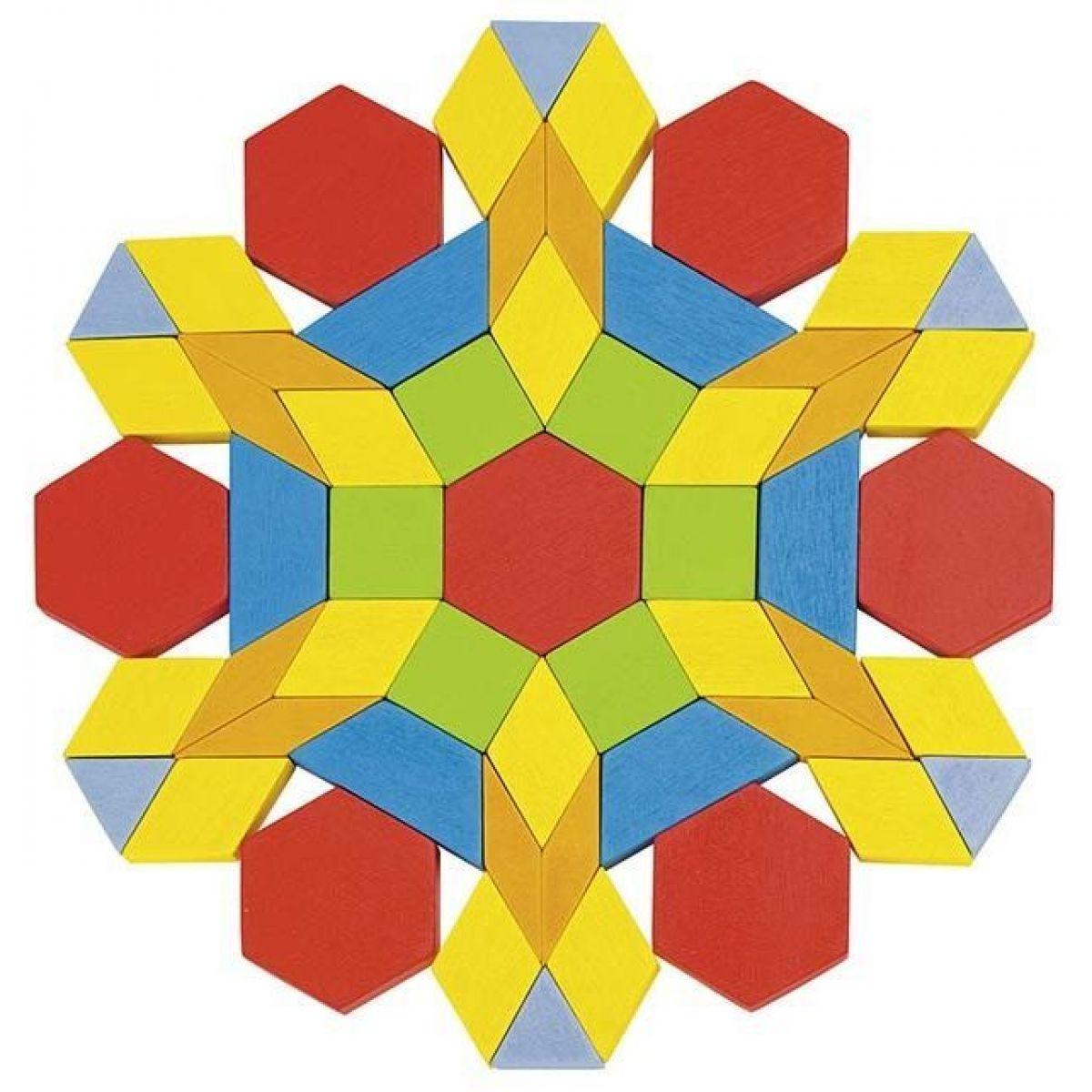 Goki Skladací puzzle geometrické tvary