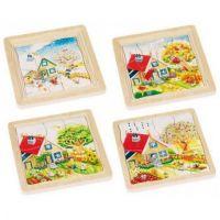 Goki Viacvrstvové puzzle Ročné obdobia