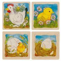 Goki Viacvrstvové puzzle Vývoj sliepočky