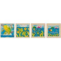 Goki Žaba vývojové vrstvené puzzle