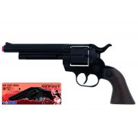 Alltoys Gonher Kovbojský revolver kovový čierny 12 rán