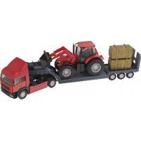 Halsall Přeprava traktorů Tahač červený