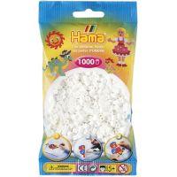 Hama H207-01 Zažehľovacie korálky Midi biele v sáčku 1000 ks