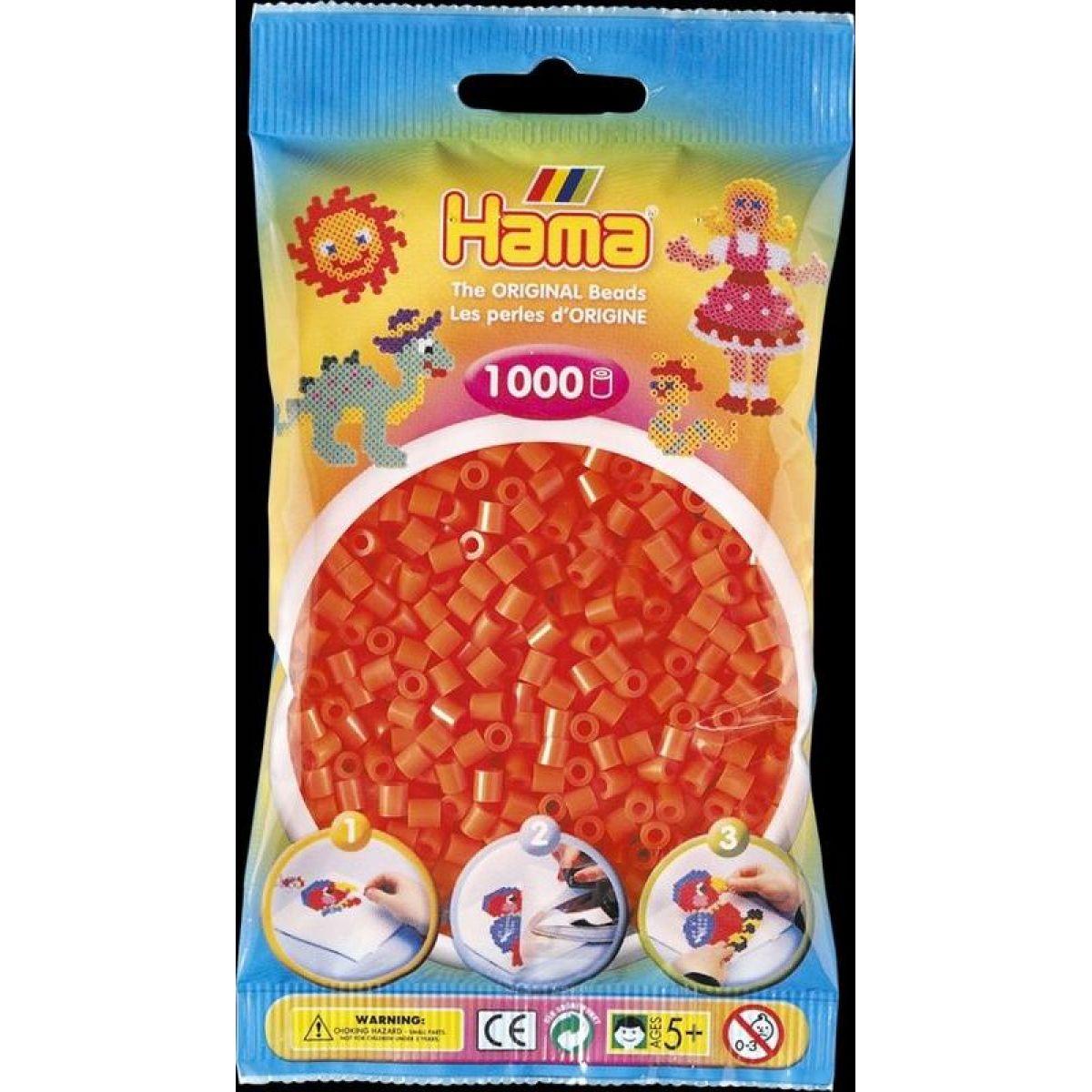 Hama H207-04 Midi Oranžové korálky 1000 ks