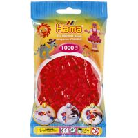 Hama H207-05 Zažehlovací korálky Midi červené 1000 ks
