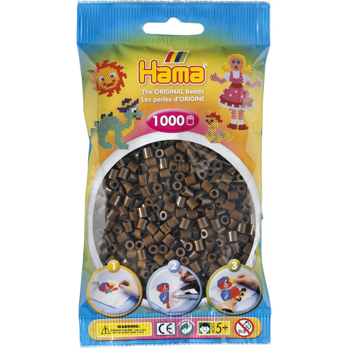 Hama H207-12 Hnědé korálky 1000 ks